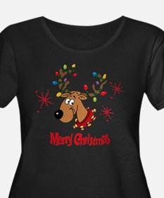 Merry Christmas Reindeer Scp Dk Plus Size T-Shirt