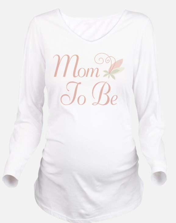Mom To Be rose bud flower T-Shirt