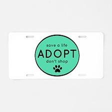 ADOPT Aluminum License Plate