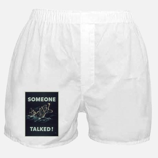 Vintage poster - Someone Talked Boxer Shorts