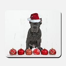 Christmas Cane Corso Puppy Mousepad
