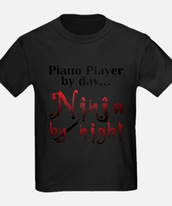 Piano Player Ninja T-Shirt