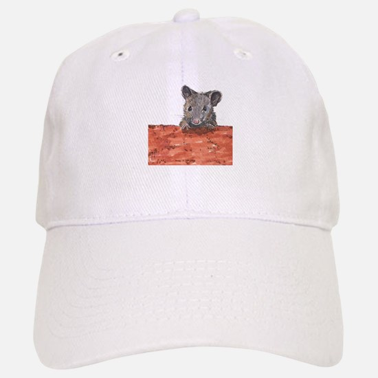 Mouse on Brick Baseball Baseball Cap