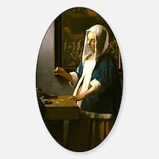 Woman Holding a Balance by Johannes Vermeer Sticke