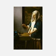 Woman Holding a Balance by Johannes Vermeer Magnet