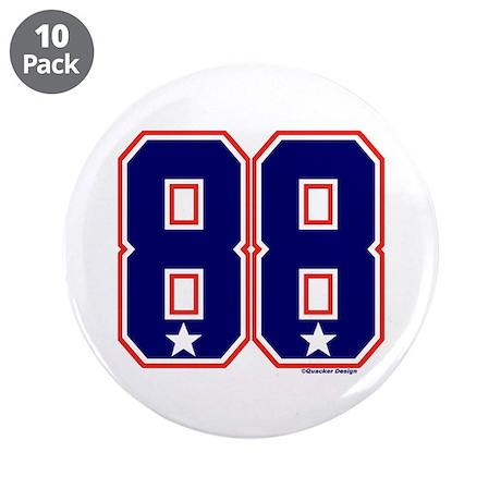 """US(USA) United States Hockey 88 3.5"""" Button (10 pa"""