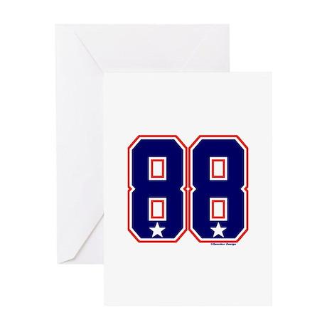 US(USA) United States Hockey 88 Greeting Card