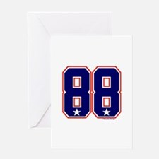US(USA) United States Hockey 88 Greeting Card