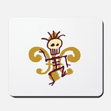 Bone Man Fleur De Lis Mousepad