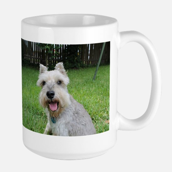 Precious Mini Schnauzer on Grass Mugs