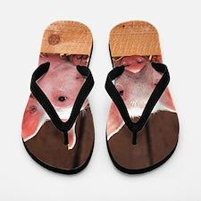 Two Adorable Little Pigs Flip Flops
