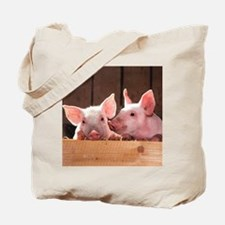 Two Adorable Little Pigs Tote Bag