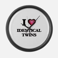I love Identical Twins Large Wall Clock