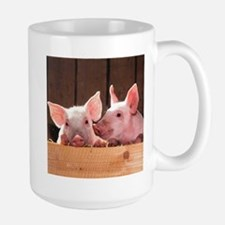 Two Adorable Little Pigs Mugs
