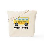 Kindergarten Personalized School Bus Tote Bag
