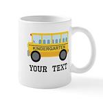 Kindergarten Personalized School Bus Mugs