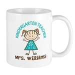 Personalized Kindergarten Teacher Gift Mugs