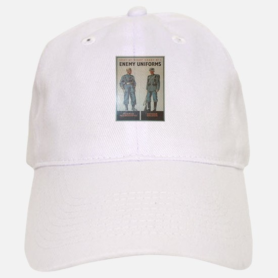 Vintage poster - Enemy Uniforms Baseball Baseball Cap