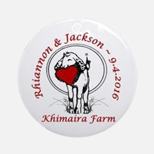 Rhiannon-Jackson Round Ornament