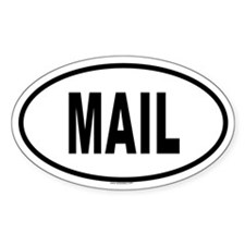 MAIL Oval Decal