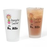 Kindergarten Teacher Personalized Drinking Glass
