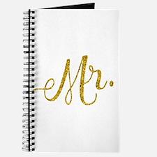 Mr. Wedding Engagement Gold Faux Foil Glit Journal
