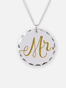 Mr. Wedding Engagement Gold Necklace