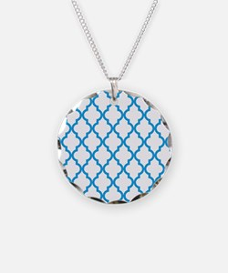 Blue, Deep Sky: Quatrefoil M Necklace