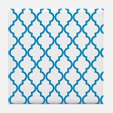 Blue, Deep Sky: Quatrefoil Moroccan P Tile Coaster
