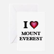 I love Mount Everest Greeting Cards
