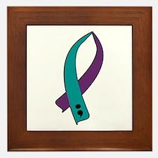 Suicide Awareness Ribbon Framed Tile