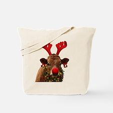 Christmas Cow Tote Bag