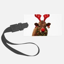 Christmas Cow Luggage Tag