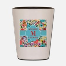 Painted Floral Personalized Monogram Shot Glass
