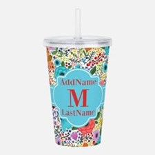 Painted Floral Persona Acrylic Double-wall Tumbler