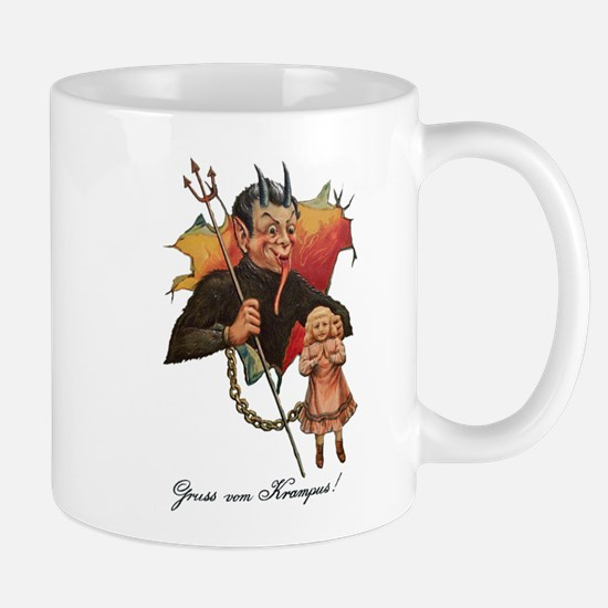 Krampus Breaking Through Mugs