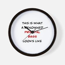 renowned principal bass Wall Clock
