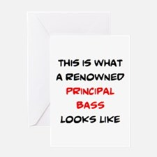 renowned principal bass Greeting Card