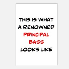renowned principal bass Postcards (Package of 8)
