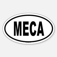 MECA Oval Decal