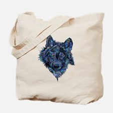 Wild Blue Wolf Tote Bag