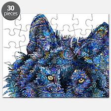 Wild Blue Wolf Puzzle