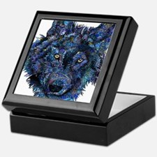 Wild Blue Wolf Keepsake Box
