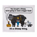 I Bought A Sheep Throw Blanket
