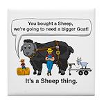 I Bought A Sheep Tile Coaster
