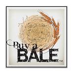 Buy A Bale (Border) Tile Coaster