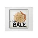 Buy A Bale (Border) Throw Blanket