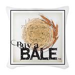 Buy A Bale (Border) Woven Throw Pillow
