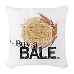 Buy A Bale Woven Throw Pillow