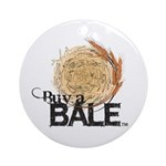 Buy A Bale Round Ornament